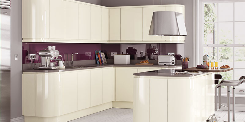 High Gloss Kitchen Cabinets White Grey On Trend Kitchen Collection