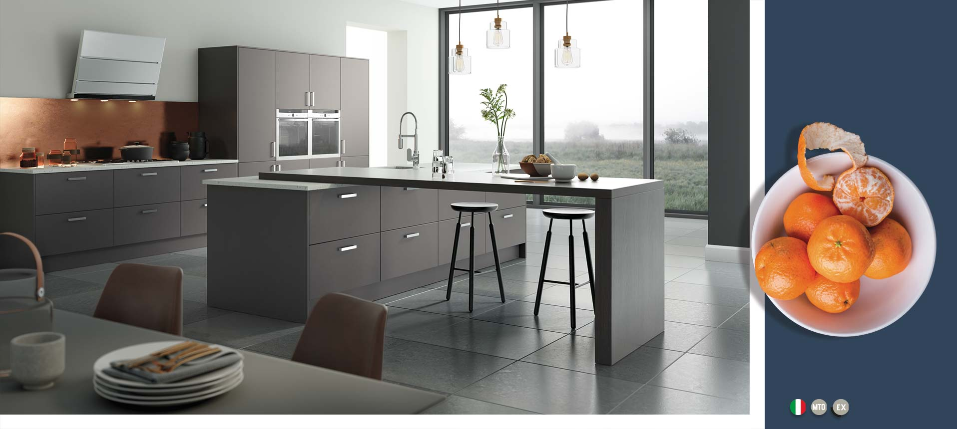 Vivo Matt Anthracite Kitchens On Trend Kitchen Collection