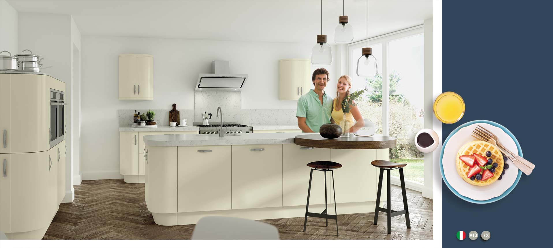 Vivo Matt Ivory Kitchens On Trend Kitchen Collection