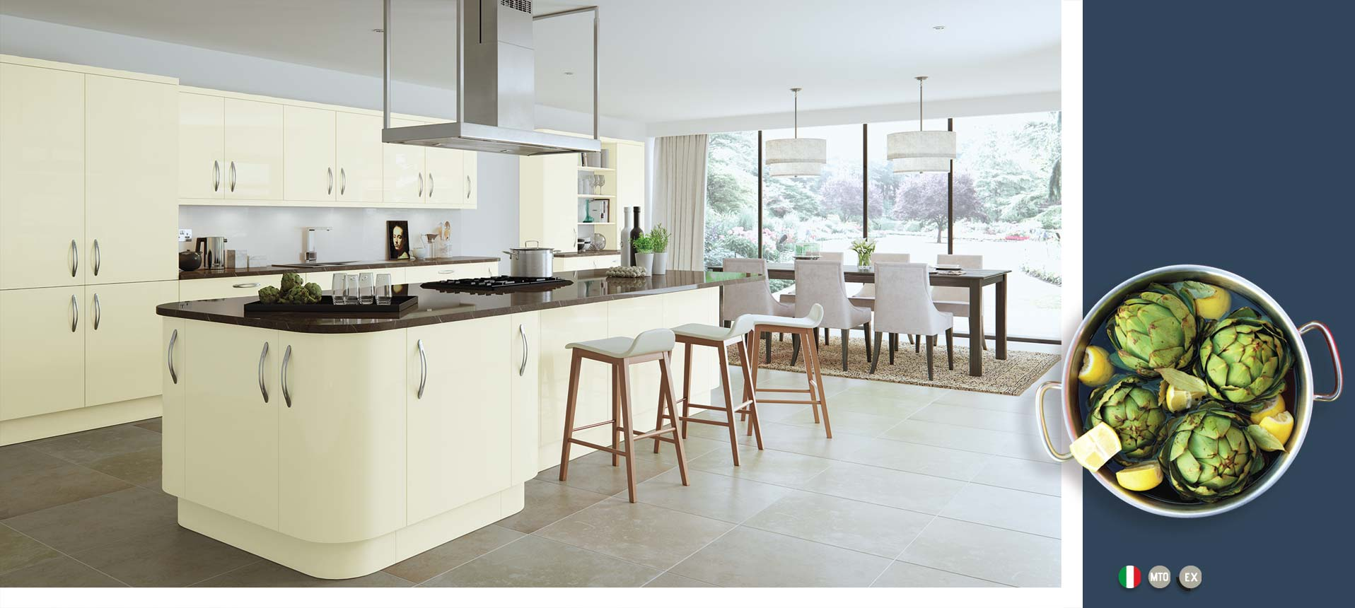 Vivo Gloss Ivory Kitchens On Trend Kitchen Collection