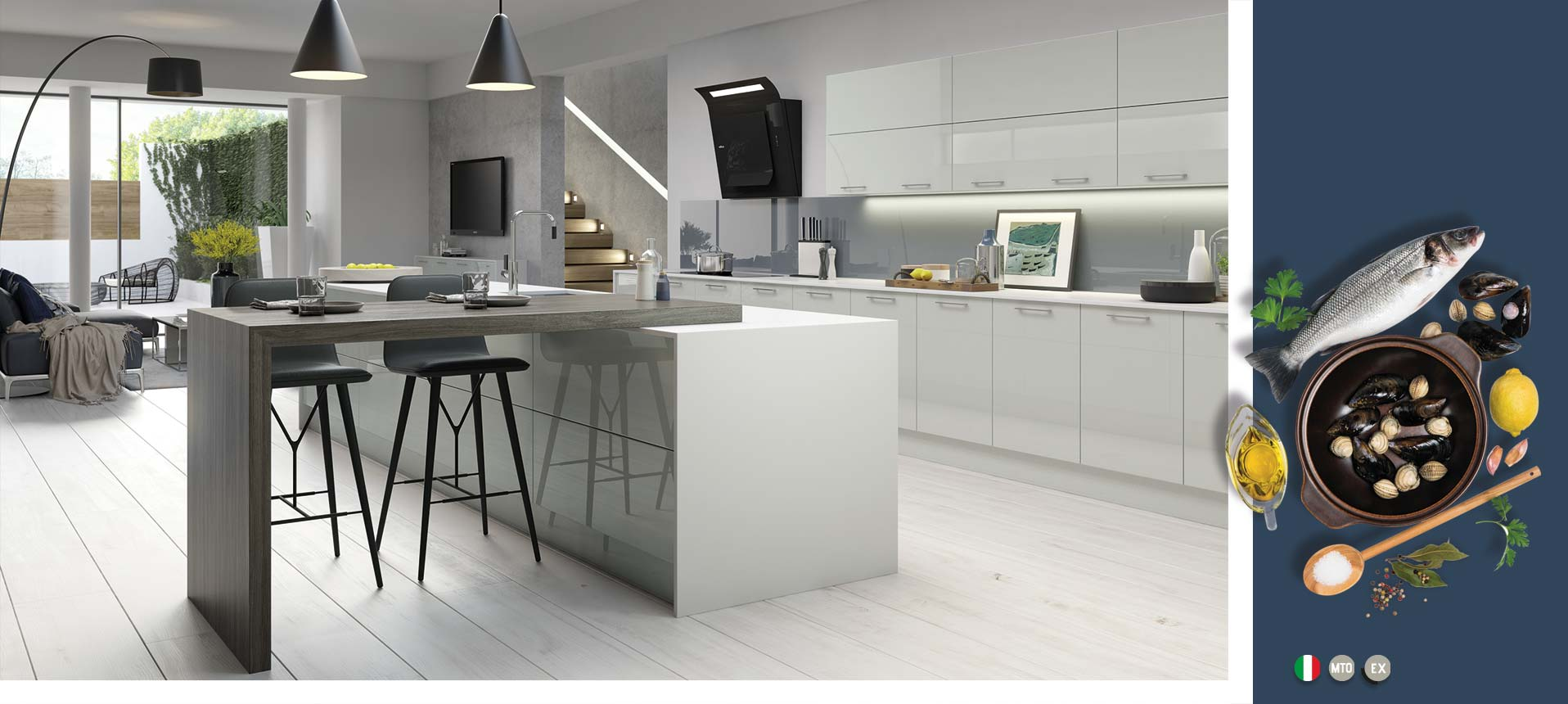 Vivo Gloss Light Grey Kitchens On Trend Kitchen Collection