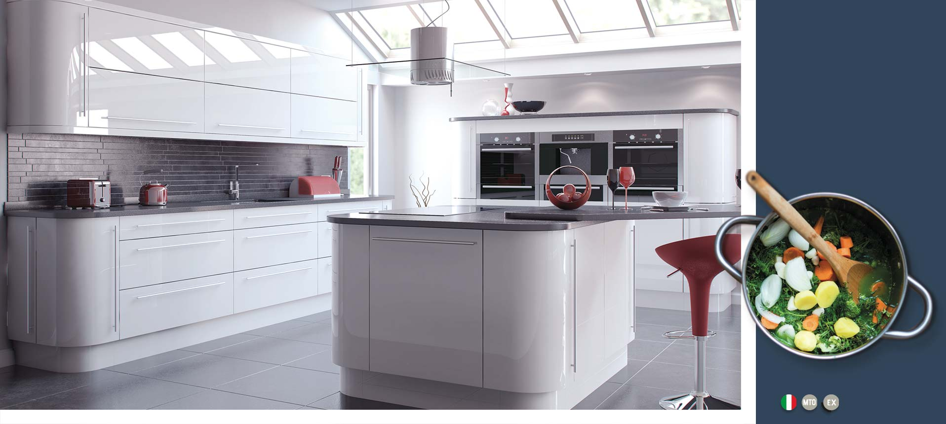 Vivo Gloss White Kitchens On Trend Kitchen Collection