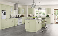 sage green trendy fitted kitchen collection