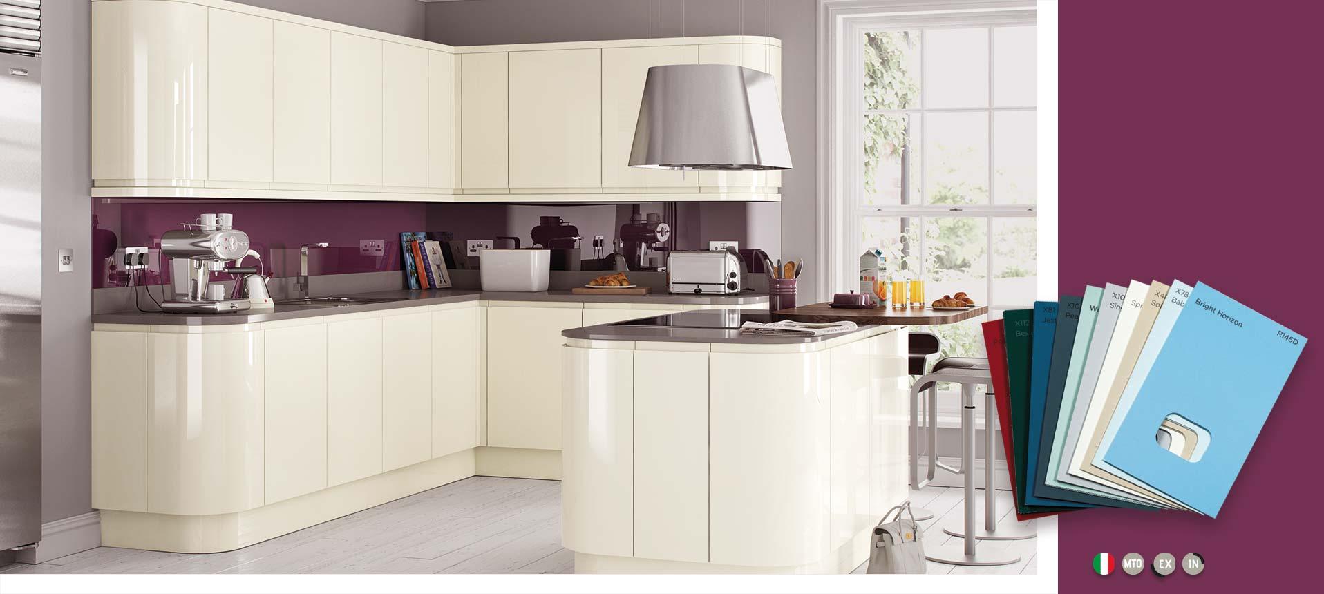 Lucente Cream Gloss Kitchens