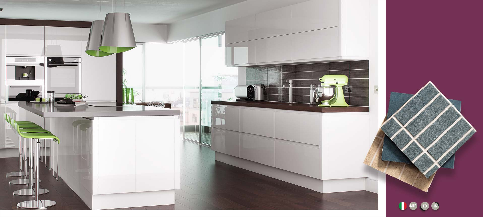 lucente white high gloss kitchens on trend kitchen