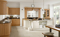 windsor wooden and white trendy fitted kitchen collection