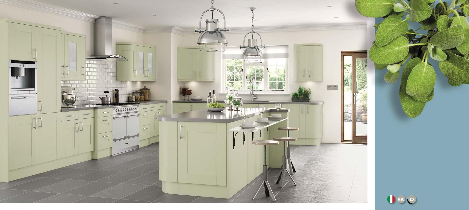 Cartmel Matt Sage Green Kitchens | On Trend Kitchen Collection