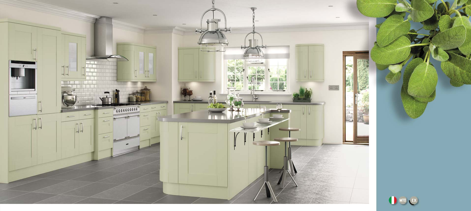 Cartmel Sage Green On Trend Collection
