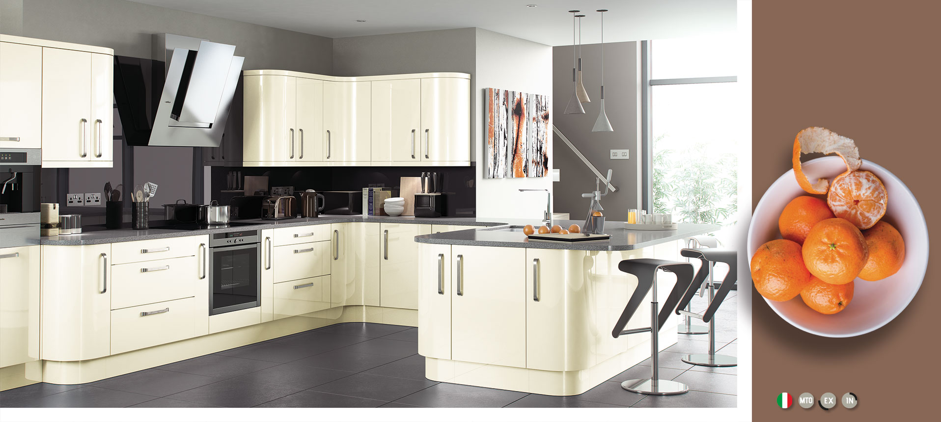 Cream Contemporary High Gloss Kitchens On Trend
