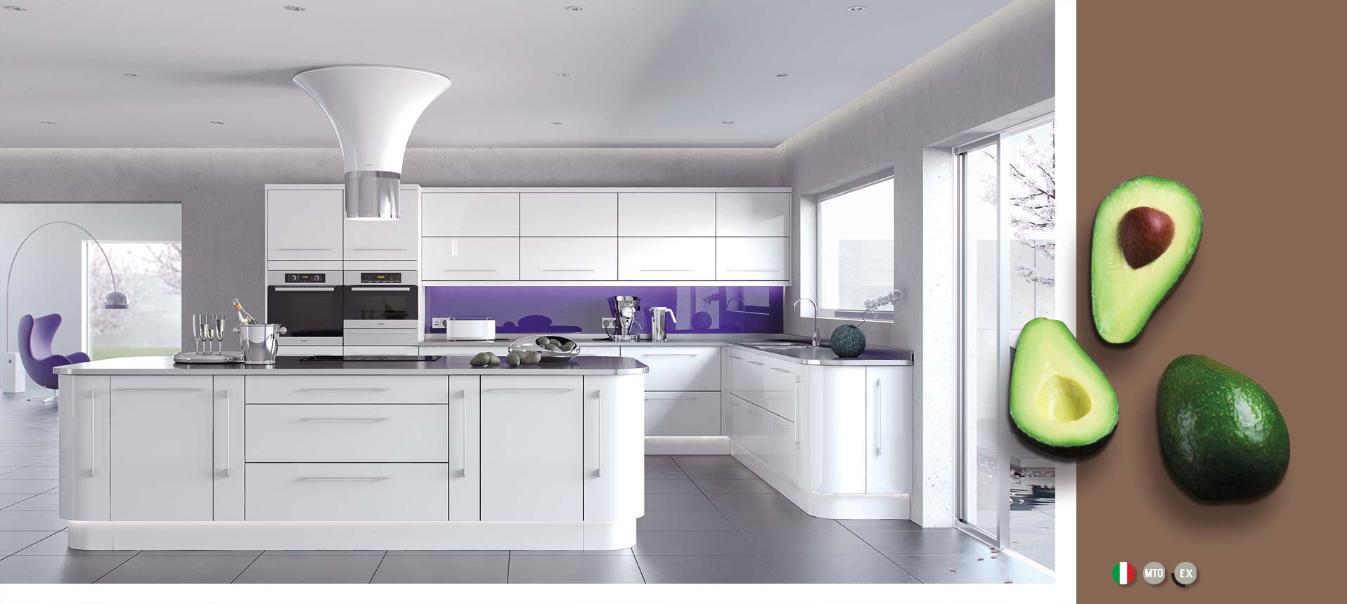 White Contemporary High Gloss Kitchens On Trend