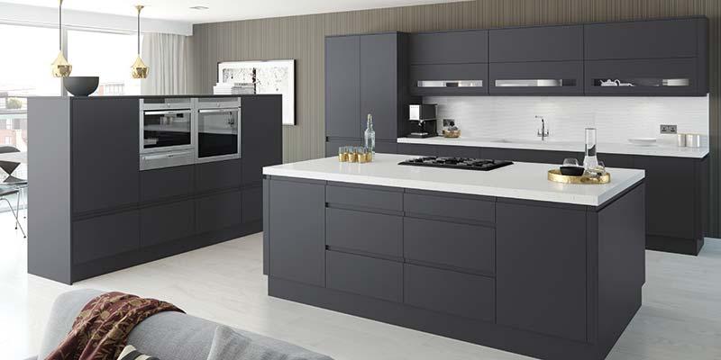 Moda Anthracite Matt Kitchen cabinets