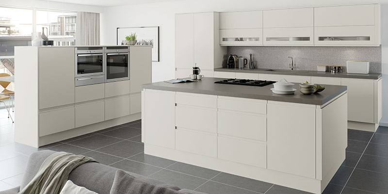 Moda Platinum Matt Kitchen cabinets