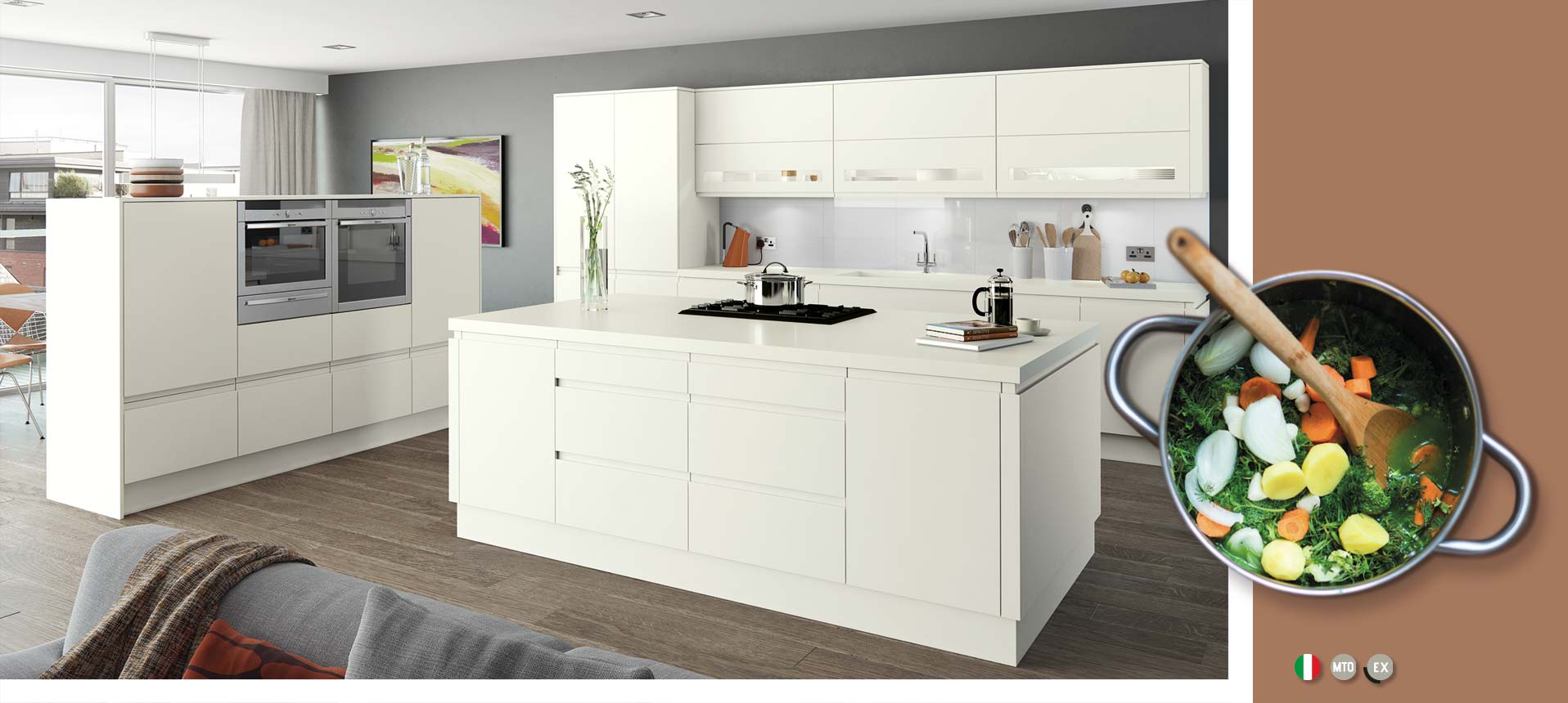 Moda White Matt Kitchens On Trend Kitchen Collection