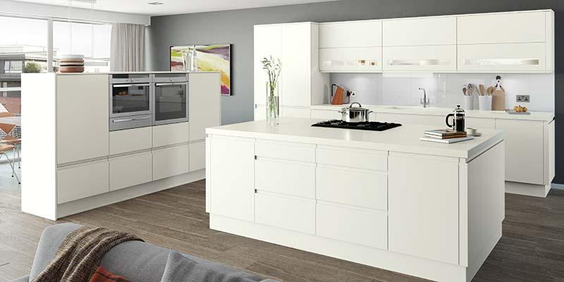 Moda White Matt Kitchen cabinets