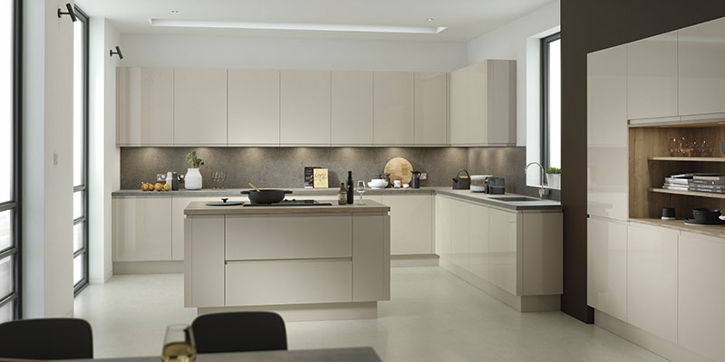Lucente Pavilion Gloss kitchen cabinet collection by On Trend