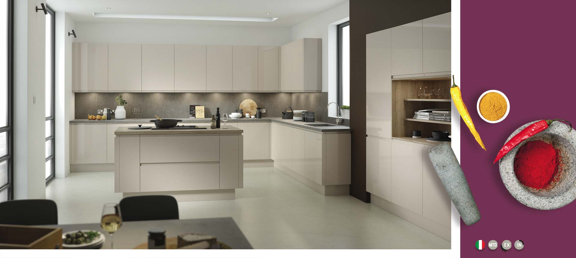 Lucente Pavilion Gloss Kitchens On Trend Kitchen Collection