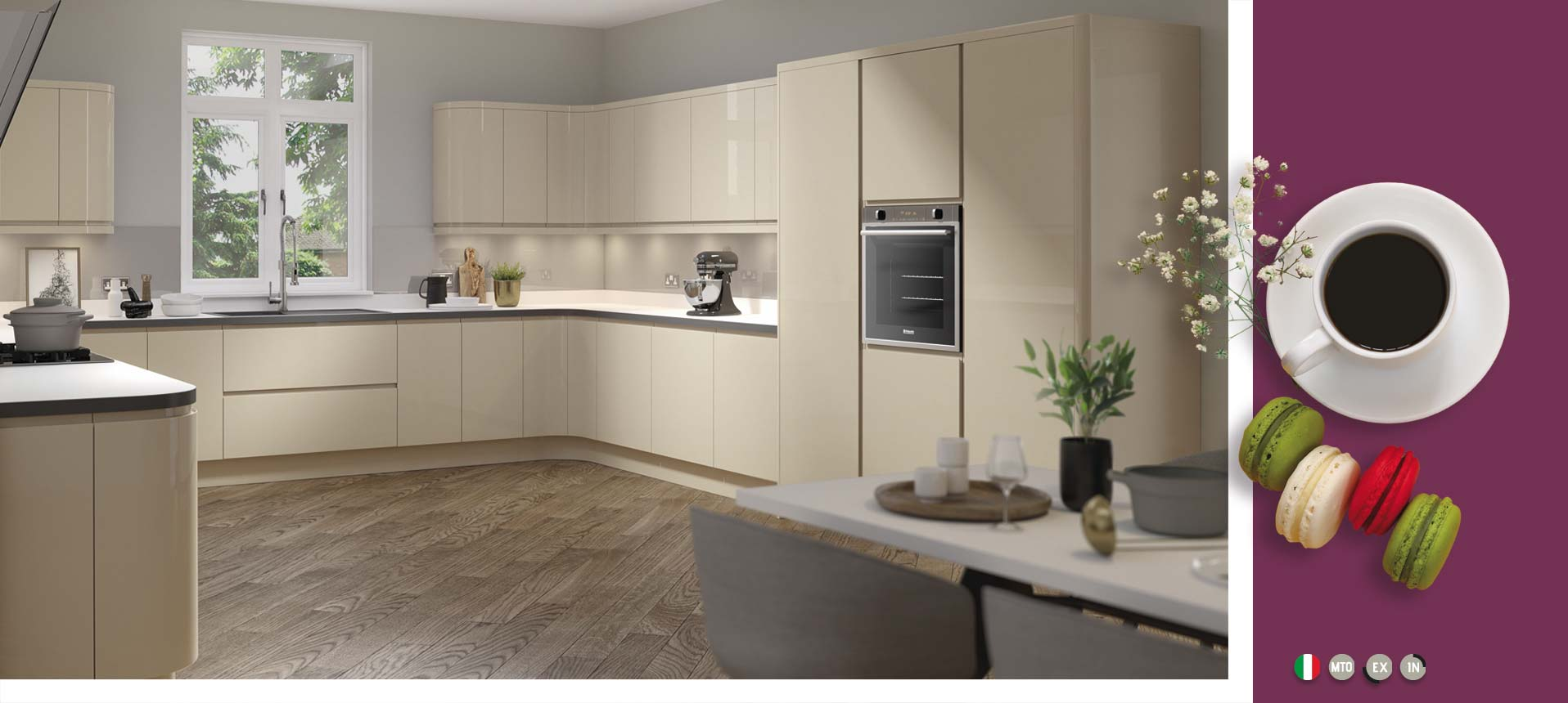 Lucente Stone Gloss Kitchens On Trend Kitchen Collection