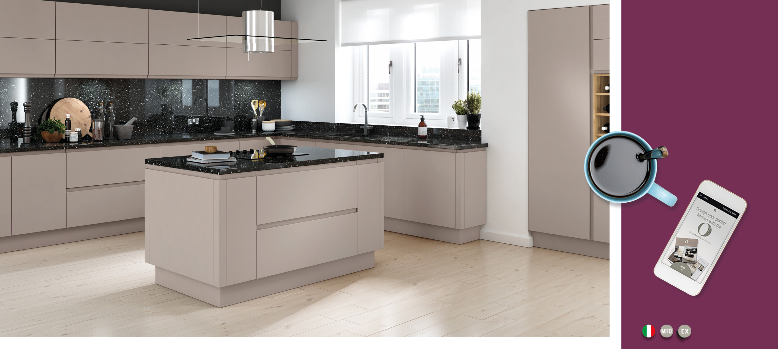 On Trend Kitchen Collection Lucente Matt Cashmere