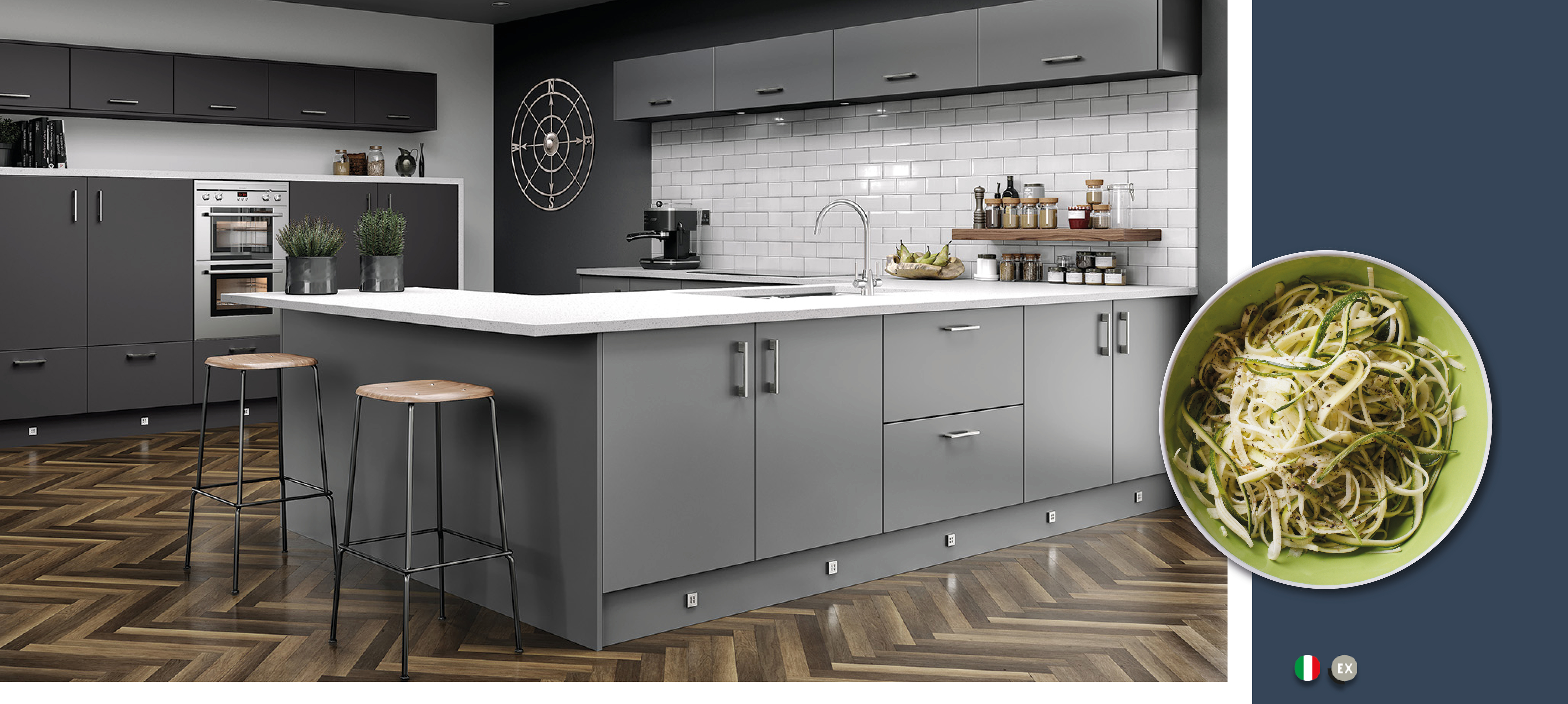 Magnificent Vivo Matt Dust Grey Kitchens On Trend Kitchen Collection Beutiful Home Inspiration Aditmahrainfo